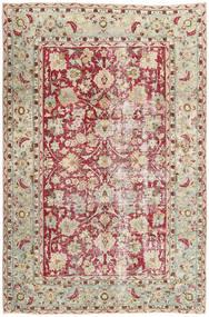 Colored Vintage Tapete 198X305 Moderno Feito A Mão Cinzento Claro/Bege Escuro (Lã, Pérsia/Irão)