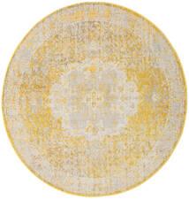 Nadia - Amarelo Tapete Ø 200 Moderno Redondo Bege Escuro/Bege/Branco/Creme ( Turquia)