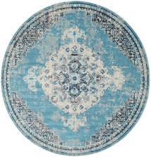 Turid - Azul Tapete Ø 200 Moderno Redondo Azul Claro/Cinzento Claro ( Turquia)