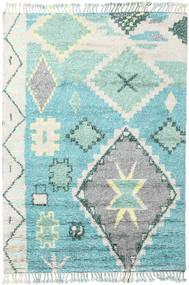 Odda - Turquesa Tapete 200X300 Moderno Feito A Mão Bege/Azul Turquesa (Lã, Índia)
