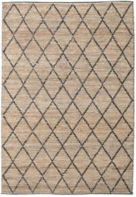 Tapete De Exterior Serena Jute - Natural/Preto Tapete 300X400 Moderno Tecidos À Mão Cinzento Claro/Bege Grande (Tapete Jute Índia)