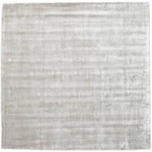 Broadway - Prata Branco Tapete 250X250 Moderno Quadrado Cinzento Claro Grande ( Índia)