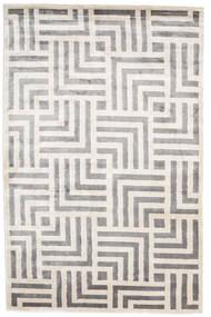 Maze Tapete 200X300 Moderno Feito A Mão Cinzento Claro/Branco/Creme ( Índia)