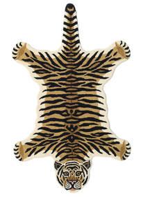 Tiger - Bege Tapete 100X160 Moderno Azul Escuro/Castanho Claro (Lã, Índia)