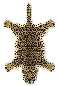 Leopard - Bege Tapete 100X160 Moderno Preto/Castanho Claro/Bege (Lã, Índia)