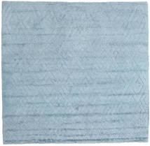 Soho Soft - Sky Azul Tapete 250X250 Moderno Quadrado Azul Claro Grande (Lã, Índia)