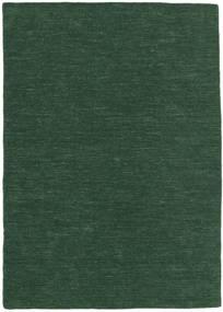 Kilim Loom - Verde Floresta Tapete 140X200 Moderno Tecidos À Mão Verde Escuro (Lã, Índia)