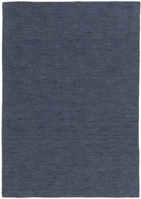 Kilim Loom - Denim Azul Tapete 160X230 Moderno Tecidos À Mão Azul (Lã, Índia)