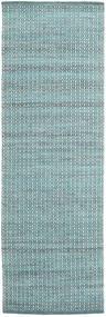 Alva - Turquesa/Branco Tapete 80X250 Moderno Tecidos À Mão Tapete Passadeira Azul Claro/Turquesa Escuro (Lã, Índia)