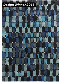 In The Woods - 2018 Tapete 250X350 Moderno Azul Escuro/Azul Grande ( Índia)