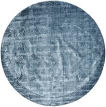 Crystal - Steel Blue Tapete Ø 250 Moderno Redondo Azul Escuro/Azul Claro/Azul Grande ( Índia)