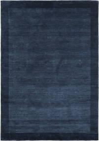 Handloom Frame - Azul Escuro Tapete 160X230 Moderno Azul Escuro (Lã, Índia)