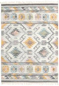 Mirza Tapete 160X230 Moderno Tecidos À Mão Cinzento Claro/Bege (Lã, Índia)