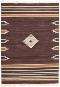 Tribal - Castanho Tapete 160X230 Moderno Tecidos À Mão Castanho Escuro/Vermelho Escuro (Lã, Índia)