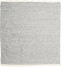 Melange - Cinzento Tapete 250X250 Moderno Tecidos À Mão Quadrado Cinzento Claro Grande (Lã, Índia)