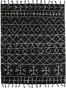 Moss Berber - Preto Tapete 240X300 Moderno Feito A Mão Preto/Cinza Escuro (Lã, Índia)
