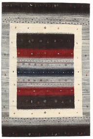 Gabbeh Loribaft Tapete 136X206 Moderno Feito A Mão Castanho Escuro/Cinzento Claro (Lã, Índia)