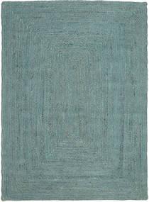 Tapete De Exterior Frida Color - Turquesa Tapete 160X230 Moderno Tecidos À Mão Azul Turquesa/Azul Turquesa (Tapete Jute Índia)