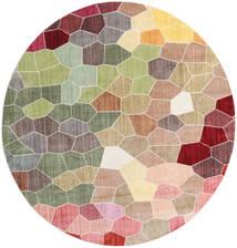 Play Of Colours Tapete Ø 200 Moderno Redondo Cinzento Claro/Castanho ( Turquia)