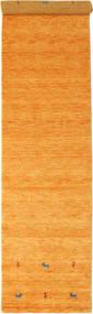 Gabbeh Loom Two Lines - Laranja Tapete 80X350 Moderno Tapete Passadeira Laranja/Castanho Claro (Lã, Índia)