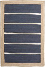 Tapete De Exterior Frida Stripe - Azul Tapete 200X300 Moderno Tecidos À Mão Azul/Bege/Azul Escuro (Tapete Jute Índia)