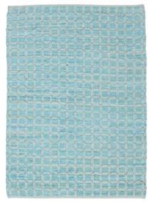 Elna - Bright_Blue Tapete 140X200 Moderno Tecidos À Mão Azul Claro/Azul Turquesa (Algodão, Índia)