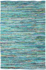 Ronja - Verde Mix Tapete 200X300 Moderno Tecidos À Mão Azul Turquesa/Azul Claro (Algodão, Índia)