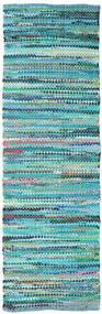 Ronja - Verde Mix Tapete 80X250 Moderno Tecidos À Mão Tapete Passadeira Azul Turquesa/Azul Turquesa (Algodão, Índia)