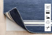 Anti Slip, Non-Woven Tapete 130X190 Moderno Azul/Cinzento Claro ( Bélgica)