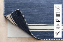 Anti Slip, Non-Woven Tapete 180X290 Moderno Azul/Cinzento Claro ( Bélgica)