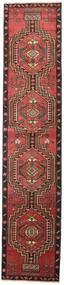 Ardabil Patina Tapete 81X385 Oriental Feito A Mão Tapete Passadeira Vermelho Escuro/Preto (Lã, Pérsia/Irão)