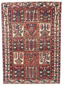 Bakhtiari Patina Tapete 110X152 Oriental Feito A Mão Vermelho Escuro/Castanho Escuro (Lã, Pérsia/Irão)