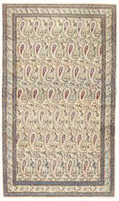 Kerman Patina Tapete 85X147 Oriental Feito A Mão Bege/Cinzento Claro (Lã, Pérsia/Irão)