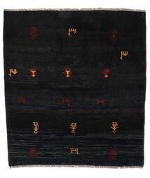 Gabbeh Rustic Tapete 153X169 Moderno Feito A Mão Preto (Lã, Pérsia/Irão)