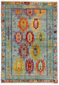 Moroccan Berber - Afghanistan Tapete 124X176 Moderno Feito A Mão Cinzento Claro/Castanho (Lã, Afeganistão)