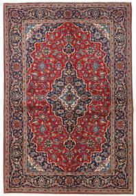 Kashan Tapete 149X223 Oriental Feito A Mão Vermelho Escuro/Porpora Escuro (Lã, Pérsia/Irão)