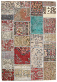 Patchwork - Persien/Iran Tapete 141X203 Moderno Feito A Mão Cinzento Claro/Castanho (Lã, Pérsia/Irão)