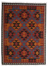 Kilim Isparta Tapete 250X350 Moderno Tecidos À Mão Vermelho Escuro/Preto Grande (Lã, Índia)