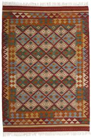 Kilim Adana Tapete 160X230 Moderno Tecidos À Mão Vermelho Escuro/Cinza Escuro (Lã, Índia)