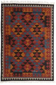 Kilim Isparta Tapete 160X230 Moderno Tecidos À Mão Vermelho Escuro/Preto (Lã, Índia)