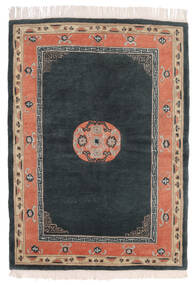 Himalaya Tapete 142X197 Moderno Feito A Mão Cinza Escuro/Vermelho (Lã, Índia)