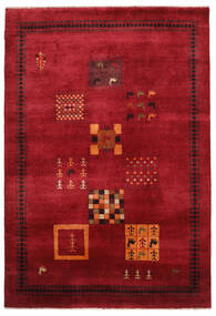 Gabbeh Loribaft Tapete 155X225 Moderno Feito A Mão Vermelho Escuro/Preto (Lã, Índia)