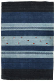 Loribaf Loom Tapete 201X303 Moderno Feito A Mão Azul Escuro/Azul Claro (Lã, Índia)