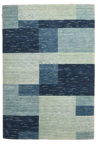 Loribaf Loom Tapete 166X244 Moderno Feito A Mão Azul Escuro/Cinzento Claro (Lã, Índia)