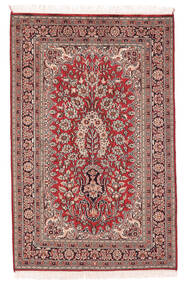 Kashmir Pura Seda Tapete 78X122 Oriental Feito A Mão Castanho Escuro/Vermelho Escuro (Seda, Índia)