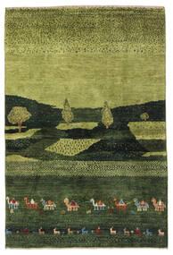 Gabbeh Persa Tapete 104X150 Moderno Feito A Mão Verde Escuro/Verde Azeitona (Lã, Pérsia/Irão)