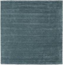 Handloom Fringes - Secundário Tapete 250X250 Moderno Quadrado Azul Escuro Grande (Lã, Índia)